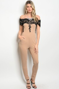 S7-3-3-J17442 TAUPE BLACK JUMPSUIT 2-2-2