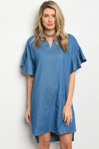 C52-A-2-D3041 BLUE DENIM DRESS 2-2-2