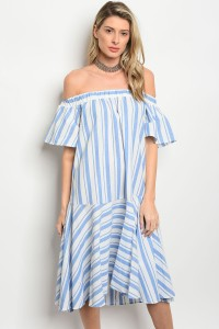 C69-A-4-D3157 BLUE WHITE DRESS 2-2-2