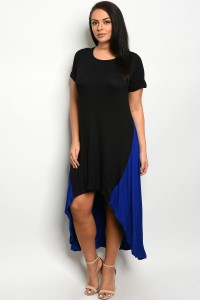 C34-A-2-D3160X BLACK ROYAL PLUS SIZE DRESS 2-2-2
