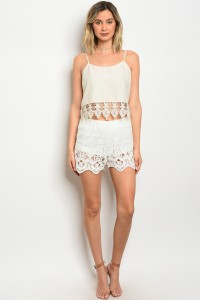 132-3-3-S572 CREAM SHORTS / 3PCS