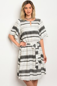 C82-A-1-D3144 OFF WHITE BLACK DRESS 1-1-1