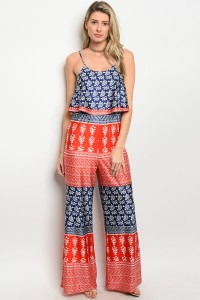 116-1-2-J8633 RED NAVY JUMPSUIT 2-2-2