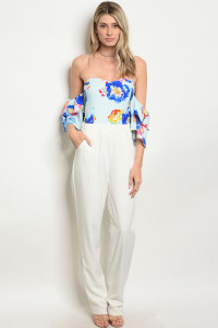 S4-2-2-J30182 WHITE BLUE JUMPSUIT 2-2-2