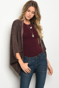 S10-20-3-C3854 BROWN WINE CARDIGAN 2-2