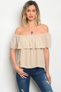 C23-B-1-NA-T2741 TAUPE TOP 1-4-2