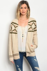 S5-1-3-NA-S0086 CREAM OLIVE SWEATER 2-2-2