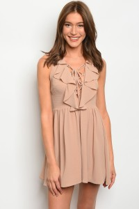 132-1-2-D71028 TAUPE DRESS 3-2-2