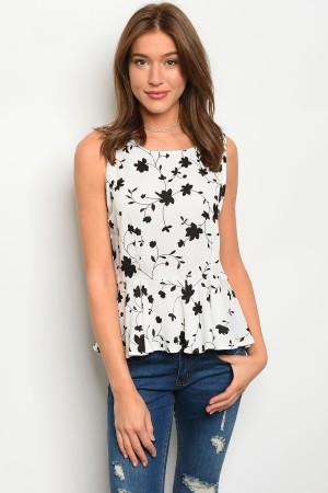 S5-1-3-T9912 OFF WHITE BLACK TOP 2-2-2