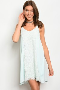 112-4-2-D10195 LIGHT MINT DRESS 1-2-2-1