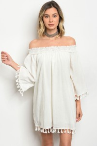 112-1-2-D10050 OFF WHITE DRESS 2-2-2