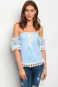 127-1-4-T00205 LIGHT BLUE IVORY TOP 2-2