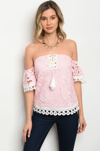 133-2-1-T00205 PINK IVORY TOP 2-2-2