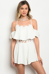 127-1-4-R10550 OFF WHITE ROMPER 1-1-2