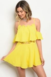 127-1-4-R10550 YELLOW ROMPER 1-1-1