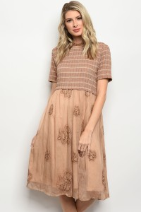 S5-3-5-D0076 TAUPE DRESS 2-2-2