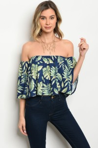 S4-2-3-T7290 NAVY GREEN TOP 3-2-1