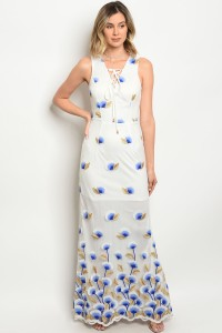 S4-2-4-D02804 WHITE BLUE DRESS 2-2-2
