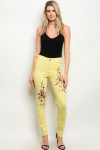 128-3-3-J7035 YELLOW JEANS / 2PCS