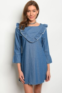 135-4-3-D8981 BLUE DENIM DRESS 1-2