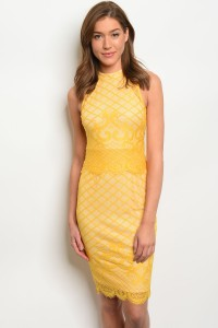 122-3-2-D3867 YELLOW DRESS 3-2-2
