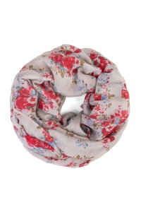 S6-5-1-HDF1798GY-GREY FLORAL INFINITY SCARF/10PCS