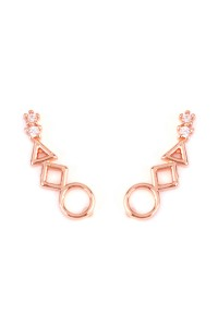 S6-6-2-HPE1001RG-CRAWLER EARRING - ROSE GOLD/12PCS