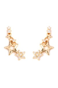 S6-6-2-HPE1003GD-STARS CRAWLER EARRING - GOLD/12PCS