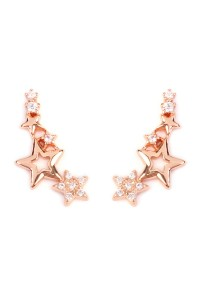 S6-6-2-HPE1003RG-STARS CRAWLER EARRING - ROSE GOLD/12PCS