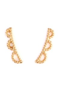 S6-6-2-HPE1010GD-GEOMETRIC SHAPES CRAWLER EARRING - GOLD/12PCS