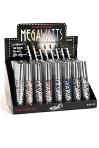 "197-3-4-ES120 KLEANCOLOR ""MEGAWATTS"" LIQUID EYESHADOW/48PCS"