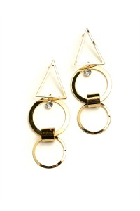 201-2-3-ER5491 DOUBLE HOOP SHAPE DROP EARRINGS/12PCS