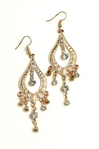 205-1-3-RER0356GS MULTI STONE DESIGN DROP EARRINGS/12PCS