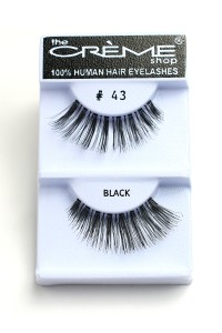 211-2-2-#43 THE CRÈME SHOP EYELASHES/12PCS