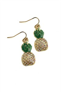 204-3-5-RER0532R3 PINEAPPLE SHAPE EARRINGS/12PCS