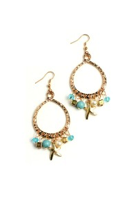 201-1-4-RER0220TQ ASSORTED SHAPE HOOP EARRINGS/12PCS