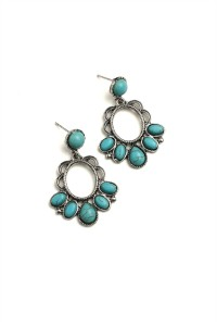 205-1-5-RER0233R4 MULTI GEM DESIGN EARRINGS/12PCS