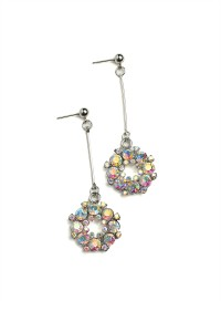 205-4-4-RER0110GS MULTI STONE DESIGN DROP EARRINGS/12PCS