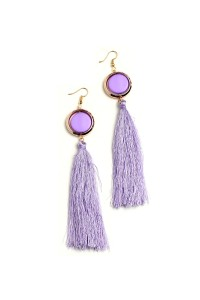 204-4-5-ME17534 GEM TASSEL EARRINGS/12PCS