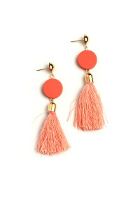 204-4-2-ME17531 GEM TASSEL EARRINGS/12PCS