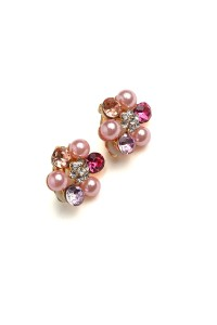 205-4-3-ANE3044 PEARL & STONE EARRINGS/12PCS