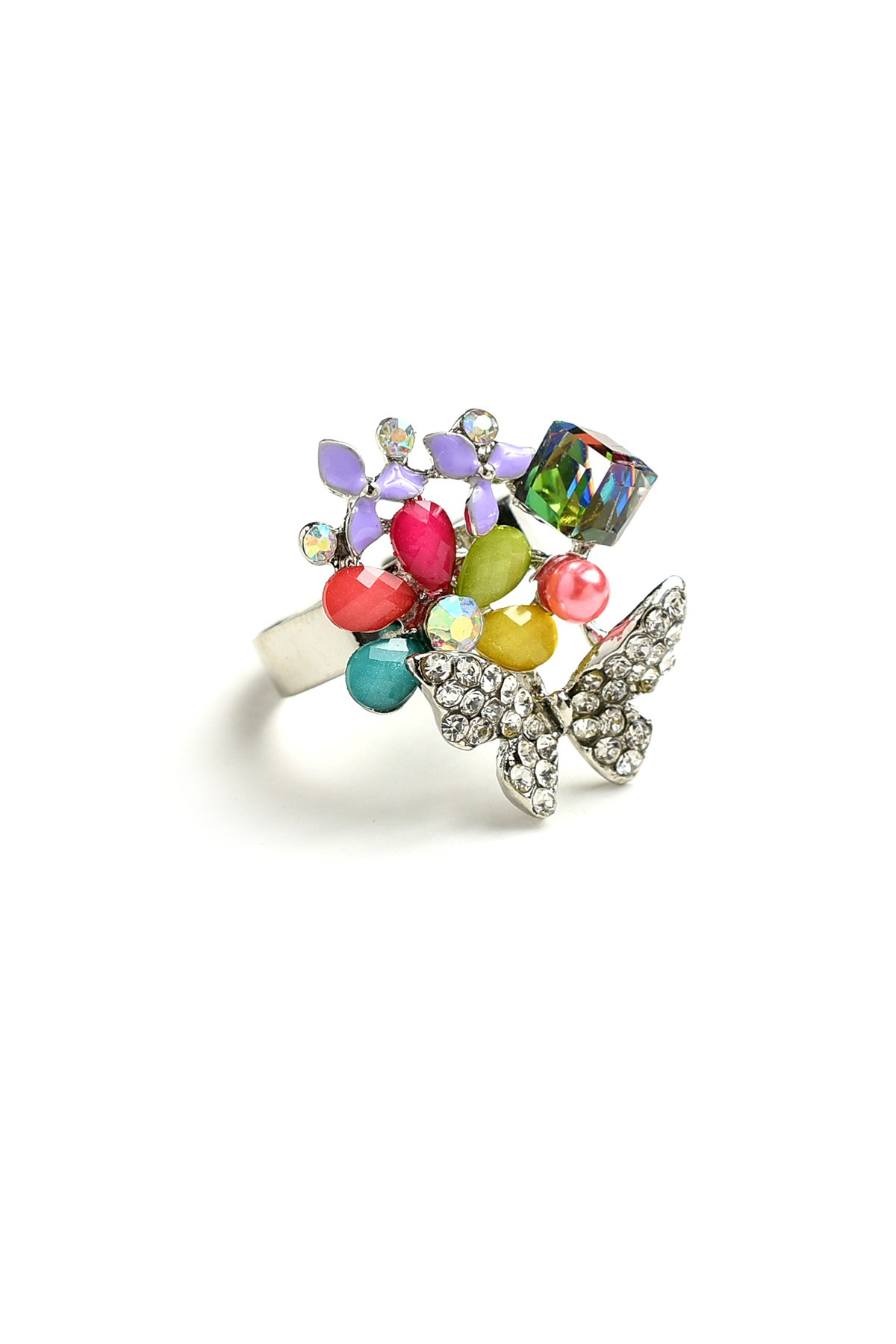 leafs rings with and adorned gem bloom em david star products ring of ri d wg natural gemstone